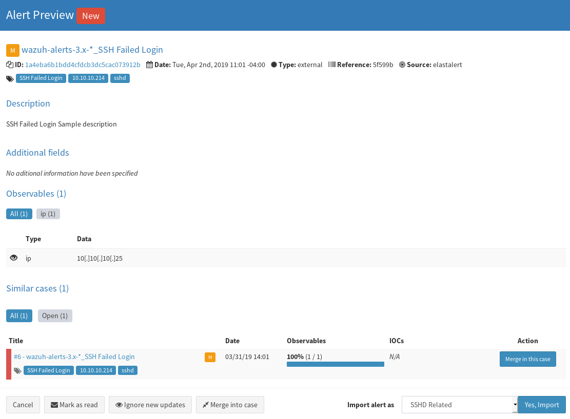 Open Source SIRP with Elasticsearch and TheHive - Part 5